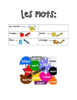 French Immersion Weekly Words Homework, Bell Work, Practic