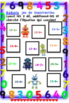 French Immersion Robots (Math game)