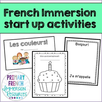 French Immersion start up activities