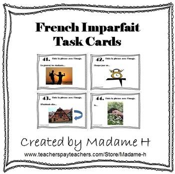French Imparfait Task Cards