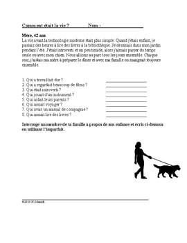 French Imperfect Reading: Comment était la vie ? (Imparfait)