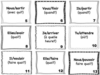 French Imperfect Speaking and Writing Activities