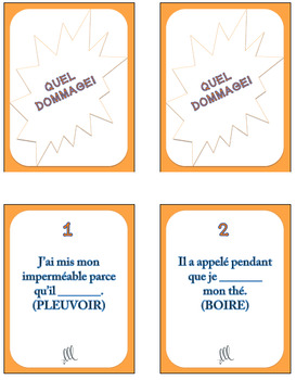 French Imperfect Tense - Quel Dommage Game