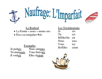 French Imperfect Verb Activity (Naufrage)