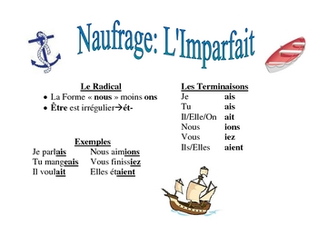 French Imperfect and Passe Compose  Verb form Activity (Naufrage)