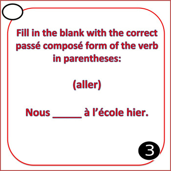 French Imperfect or Passé Composé Task Cards