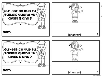 French Imperfect tense Verbs Reader & Build-A-Book ~ l'imparfait