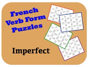 French Imperfect (Imparfait) Verb Puzzle Activity
