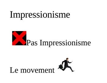 French Impressionism Game