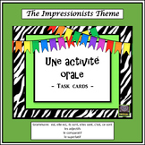 (French) Impressionism – L'impressionnisme – Activité orale