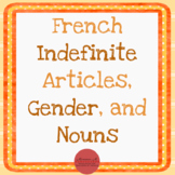 French Indefinite Articles, Gender, Nouns [Lesson Activities & SCOOT!]