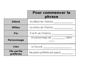 French Independent Reading Workbook