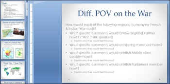 French & Indian War Aftermath PowerPoint