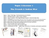 French & Indian War Interactive Journal Foldables + PowerPoint