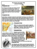 French & Indian War Interactive Reading