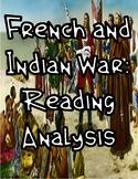 French & Indian War: Reading Analysis