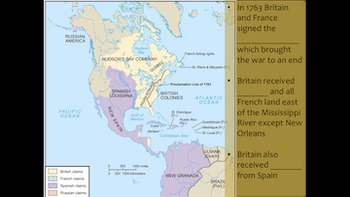 French & Indian War and Events Leading to the Revolutionary War [NO PREP]