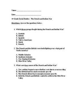 French & Indian War test