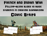 French and Indian War: visual & engaging 25 slide PPT & Comic Strip Activity