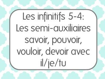 French Infinitive Lesson 4: Les semi-auxiliaires (pouvoir,