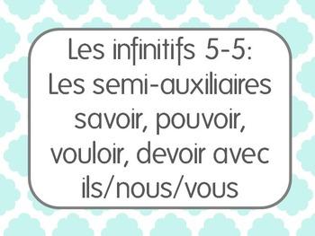 French Infinitives Lesson 5: Les semi-auxiliaires avec ils, nous, et vous