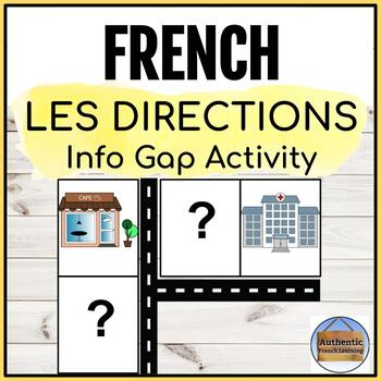 French Info Gap Directions Activity - Les directions