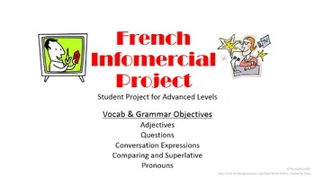 French Infomercial Vocab Project