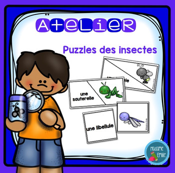 French Insects Puzzles/ Casse-tête {Mots des insectes}