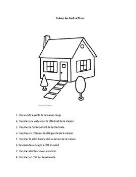 French Instructional Worksheet