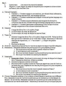 French Integrated Performance Assessment IPA on School - L