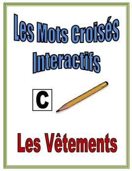 French Clothing Interactive Crossword Puzzle, Speaking Activity