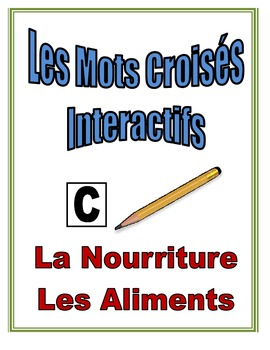 French Food and Drink Interactive Crossword Puzzle, Speaking Activity
