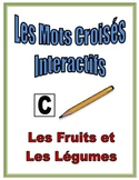 French Fruit and Vegetable Interactive Crossword Puzzle, Speaking Activity