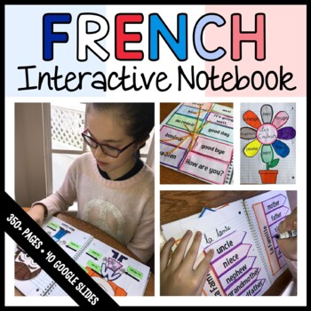French Interactive Notebook with Scaffolded Notes