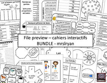 French Interactive Notebook BUNDLE - cahier interactif