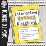 French Interactive Notebook Back to School
