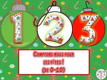French: Nombres pour Les Fêtes! (De 0-10)