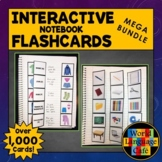 French Vocabulary, Verbs Flashcards, Interactive Notebook Flashcards Mega Bundle