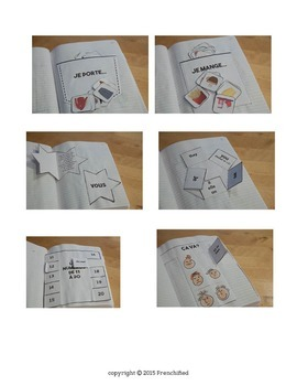 French Interactive notebook - Foldables - Vocabulary