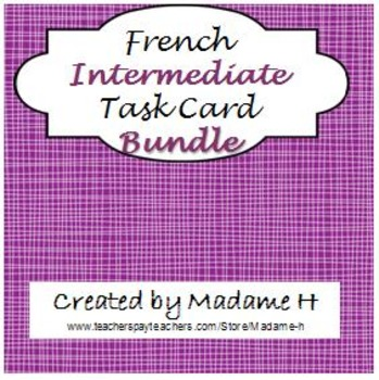 French Intermediate Verbs Task Card Bundle