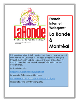 French Internet Activity La Ronde Montreal French Culture