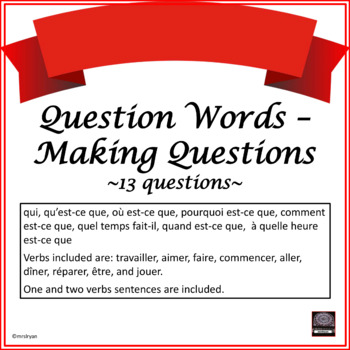 French Interrogative Adverbs – Making Questions