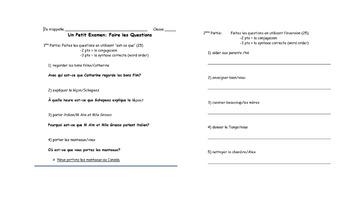 French Interrogative Assessments