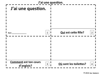 French Interrogatives 2 Emergent Reader Booklets - J'ai Une Question