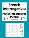 French Interrogatives Matching Squares Puzzle - French Question Words