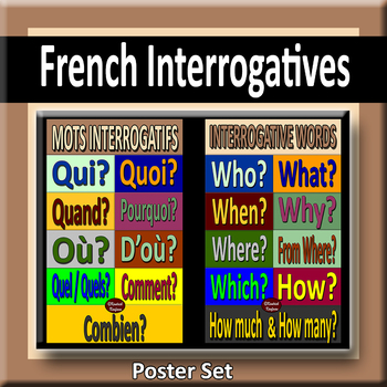 French Interrogatives Poster Pair