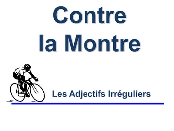French Adjective (Irregular) Writing Activity, Powerpoint
