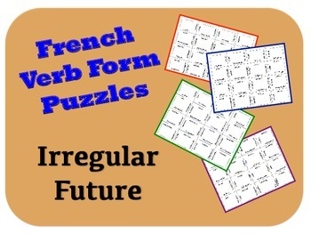 French Irregular Future Verb Form Puzzle Activity