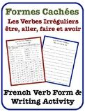 French Irregular Verb Writing Activity (être, aller, faire, avoir)