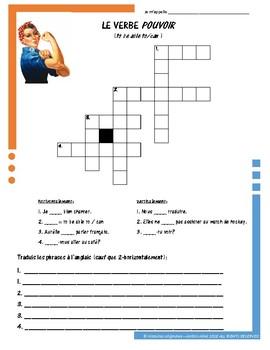 French Irregular Verb Puzzles - POUVOIR